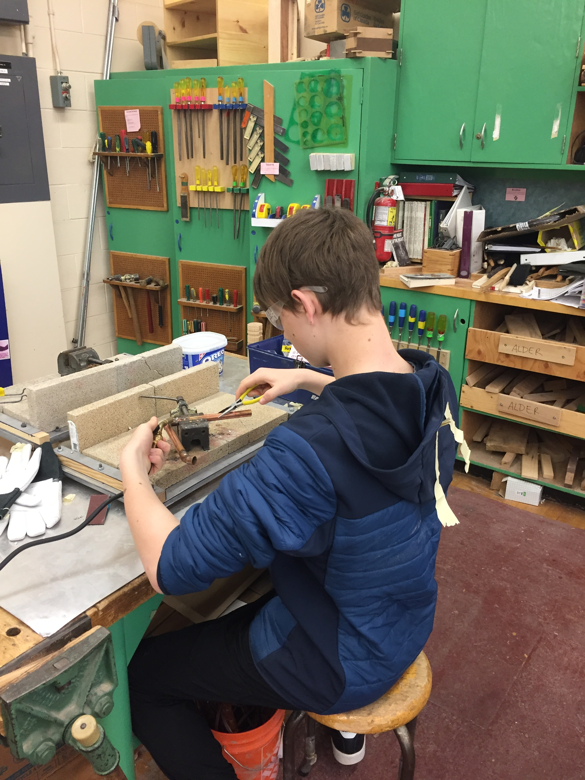 Metalwork classes are back at King George.
