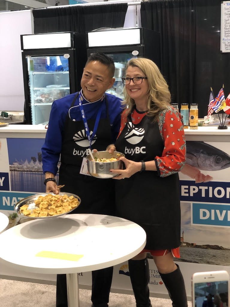 Nathan Fong was cooking something up with BC Minister of Agriculture Lana Popham.