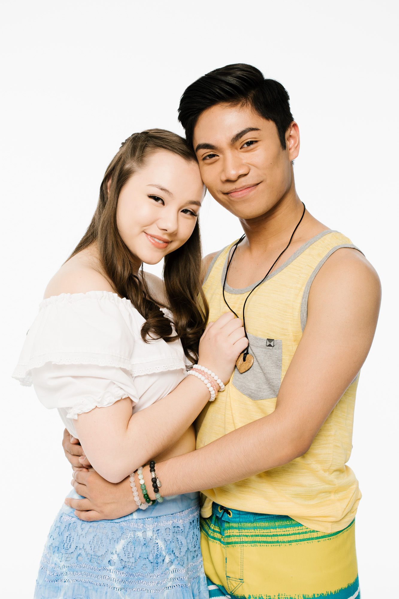 "Keira Jang as Sophie and Joshua Lalisan as Sky in ""Mama Mia!"" at TUTS."