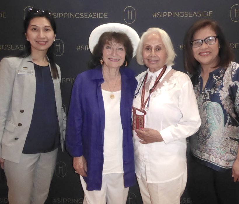 From left: Bayshore sales executive Shirley Chan; Joy Metcalfe; food and travel writer Lenora Hayman; and the Bayshore's executive assistant Rossette Escalambre at the grand opening of H1 Tasting Lounge.