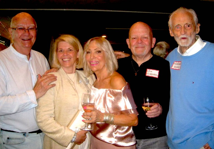 From left: Bernard Cuffling, Susan Skemp, Charlene Brandolini, Jim Hibberd, and Norman Young enjoy the BCEHF party at the Sylvia.