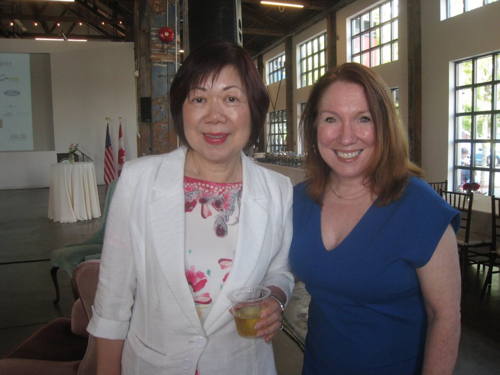 Winnie Choo and  Glenda Ainsworth.