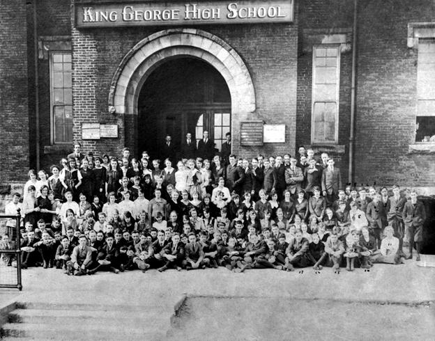 1914 at the original King George High School on Burrard Street.