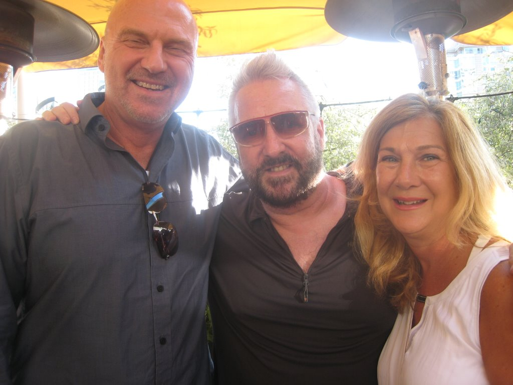 Mark Driesschen, Joe Leary and Mark's missus, Amandah Tanner.
