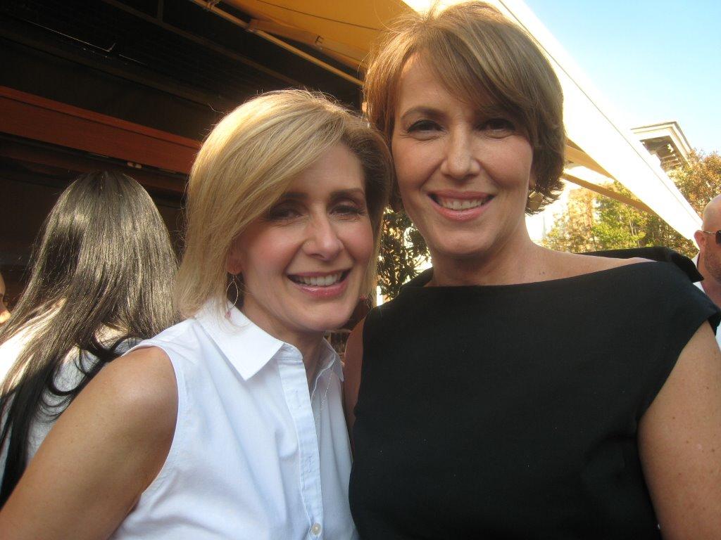 Global TV's Coleen Christie and CBC's Gloria Macarenko.