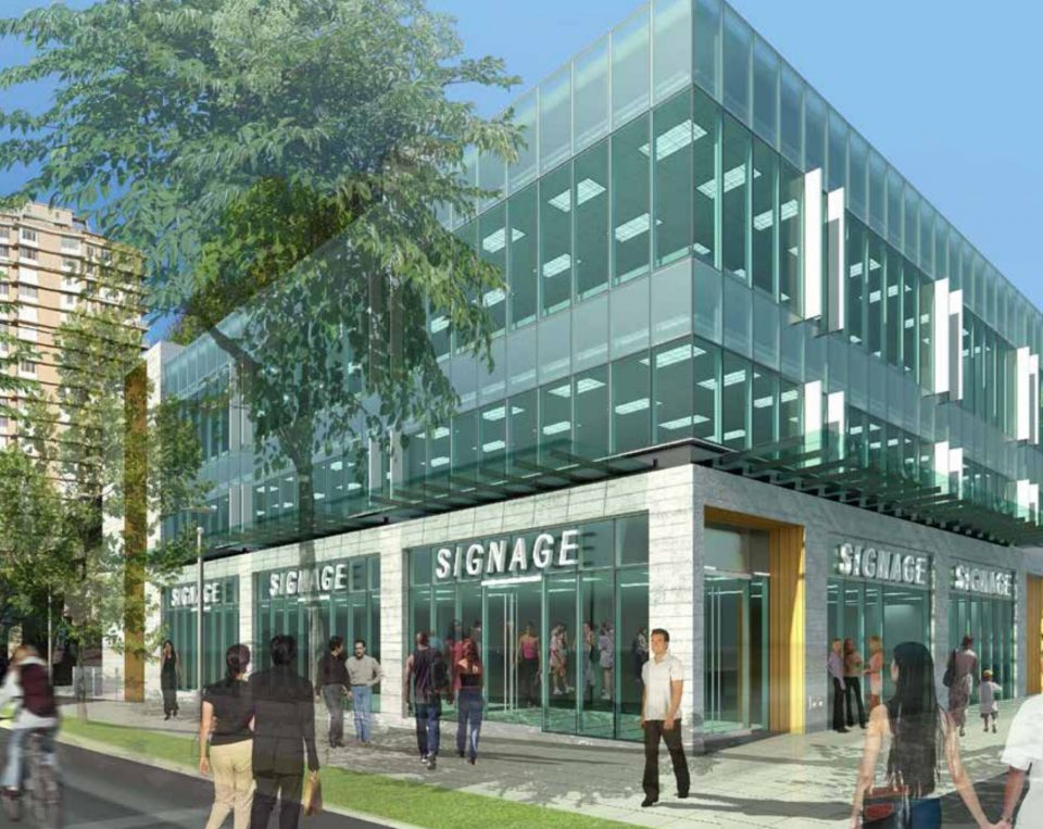 An artist's rendering of plans for the north-west corner of Denman