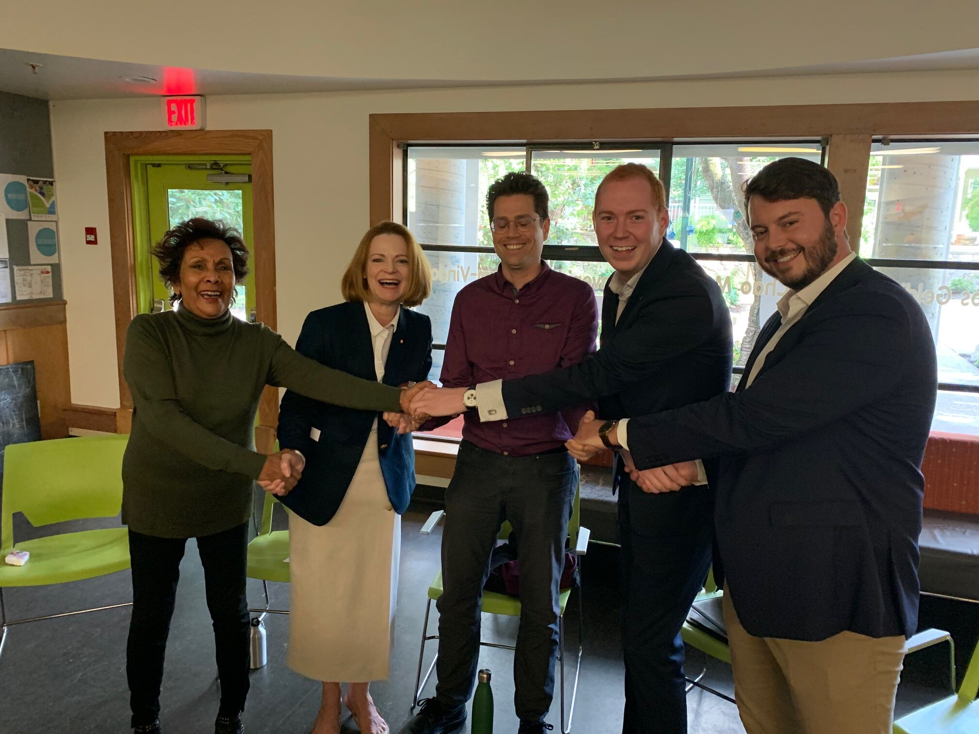 Five of the seven candidates on your ballot shared a moment of collegiality in September as guests at an meeting organized by West End Families In Action.