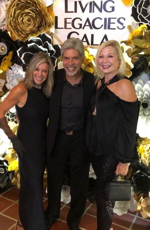 Corinne Zajac and Theo and Chantal Sanidas at Casa Mia's toast to Mel Zajac