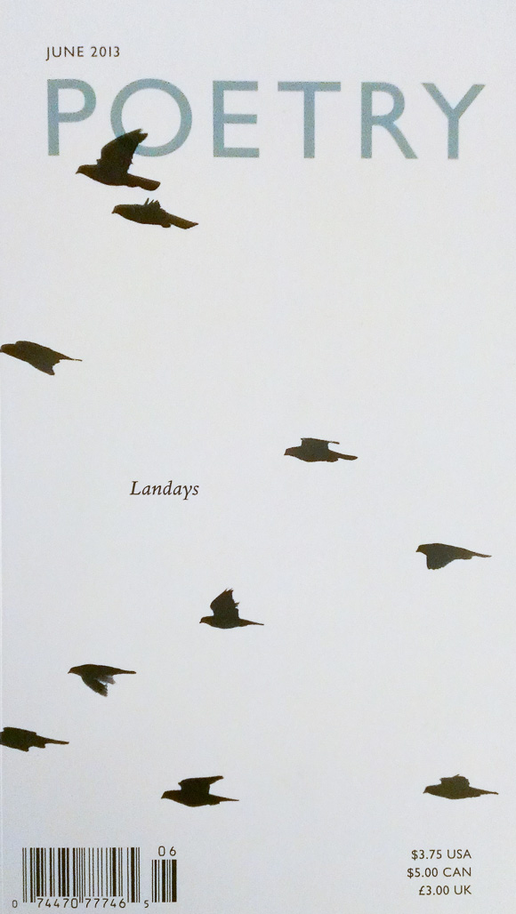 The cover of Poetry's June 2013 issue, which is dedicated to landays, the two-line Afghan folk poem.