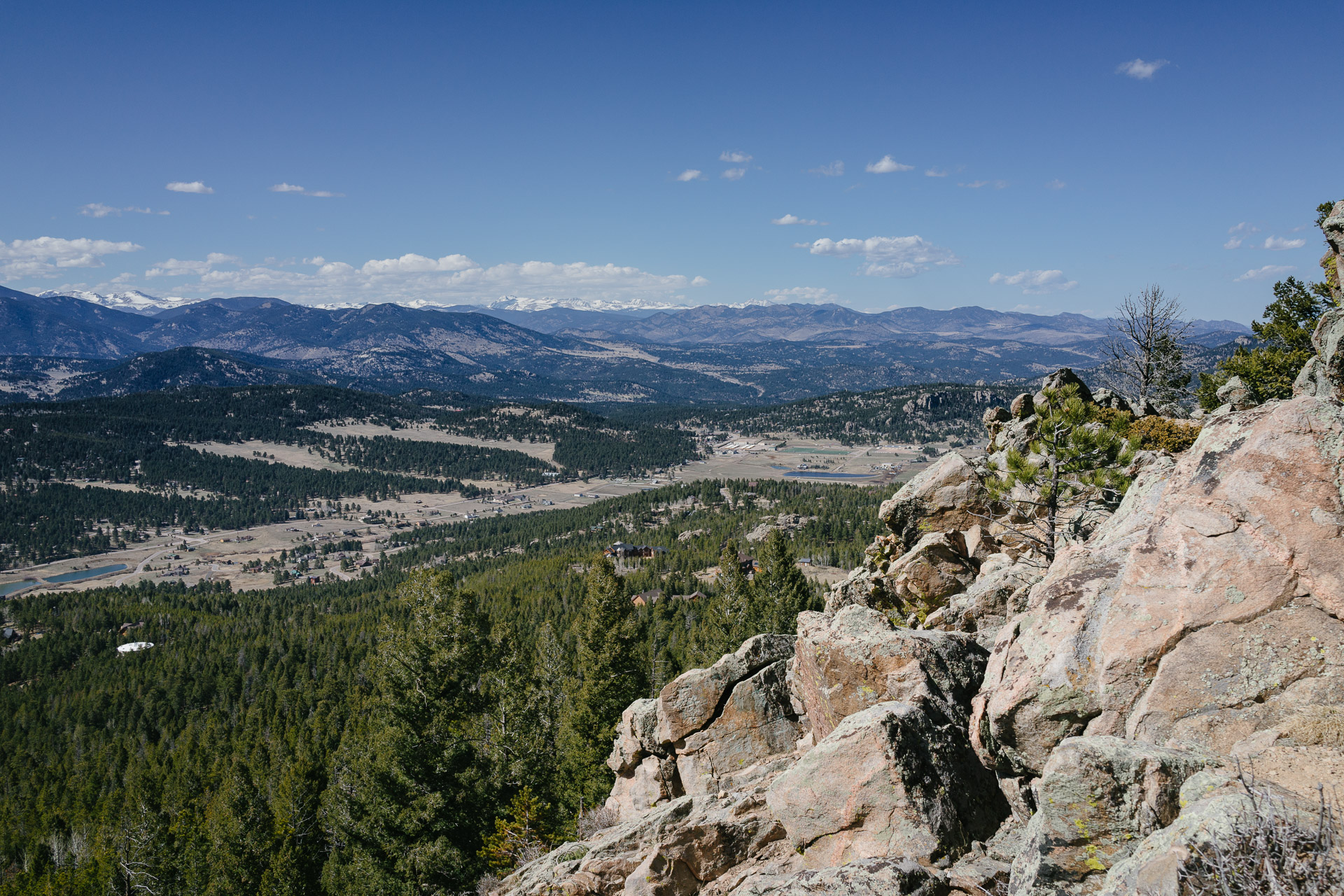 The view north from the top of Berrian Mountain in Conifer, Colorado. March, 2015.