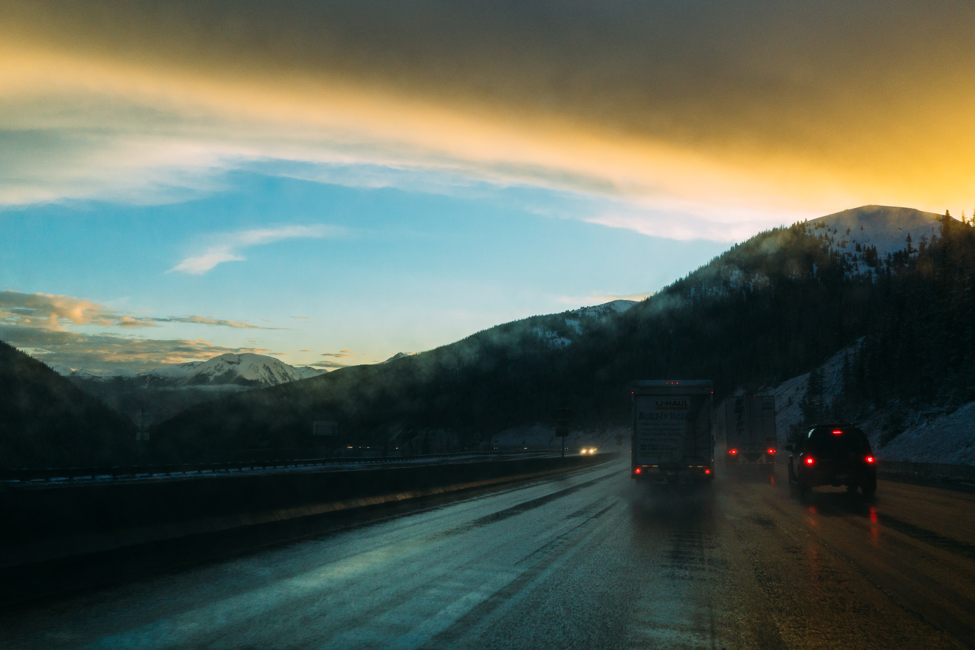 A   U-Haul journey across the Rocky Mountains in Colorado (Sony RX1).