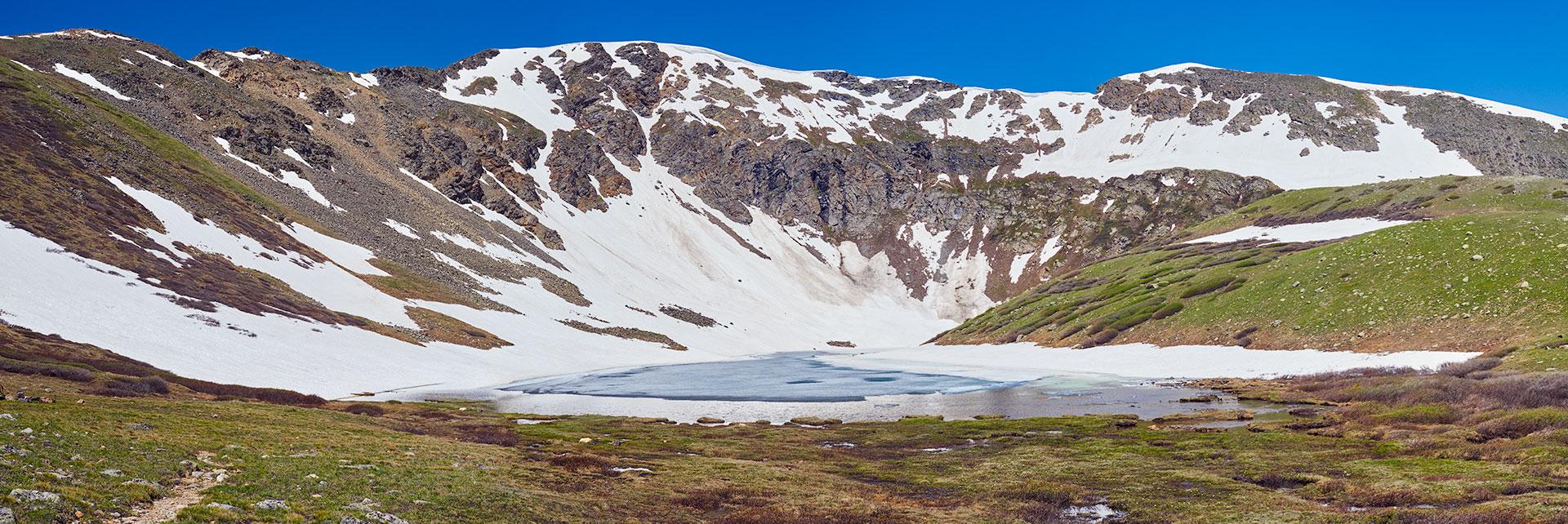 Shelf Lake. Elevation 12,100 feet.