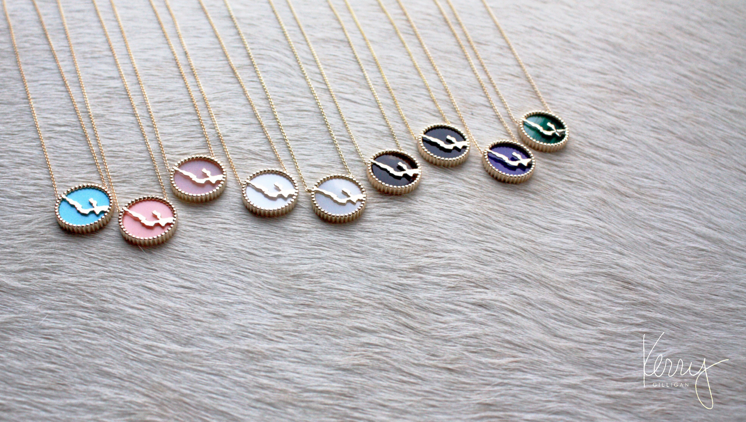 interchangeable lake necklaces by kerry gilligan