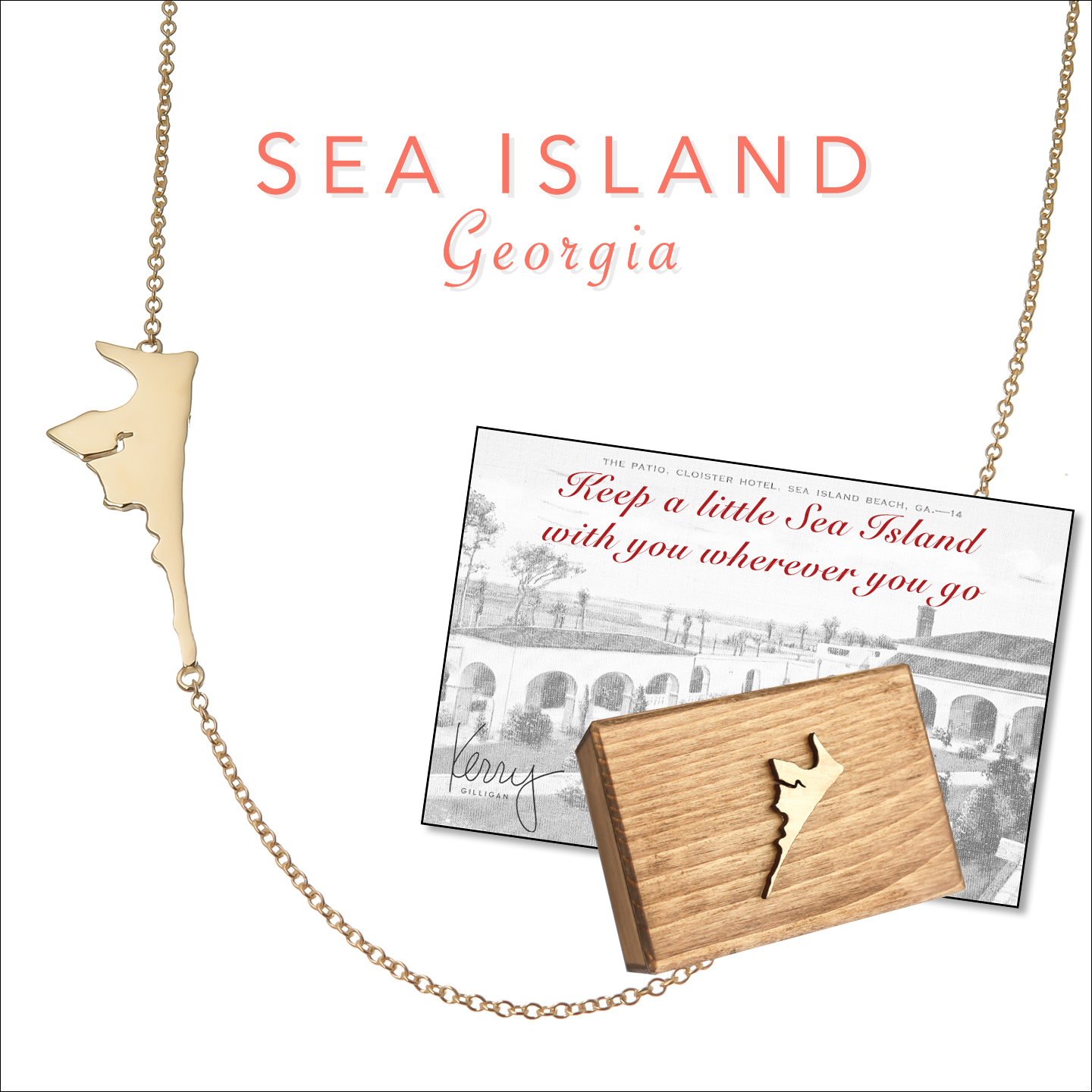 sea island necklace on the map by kerry gilligan