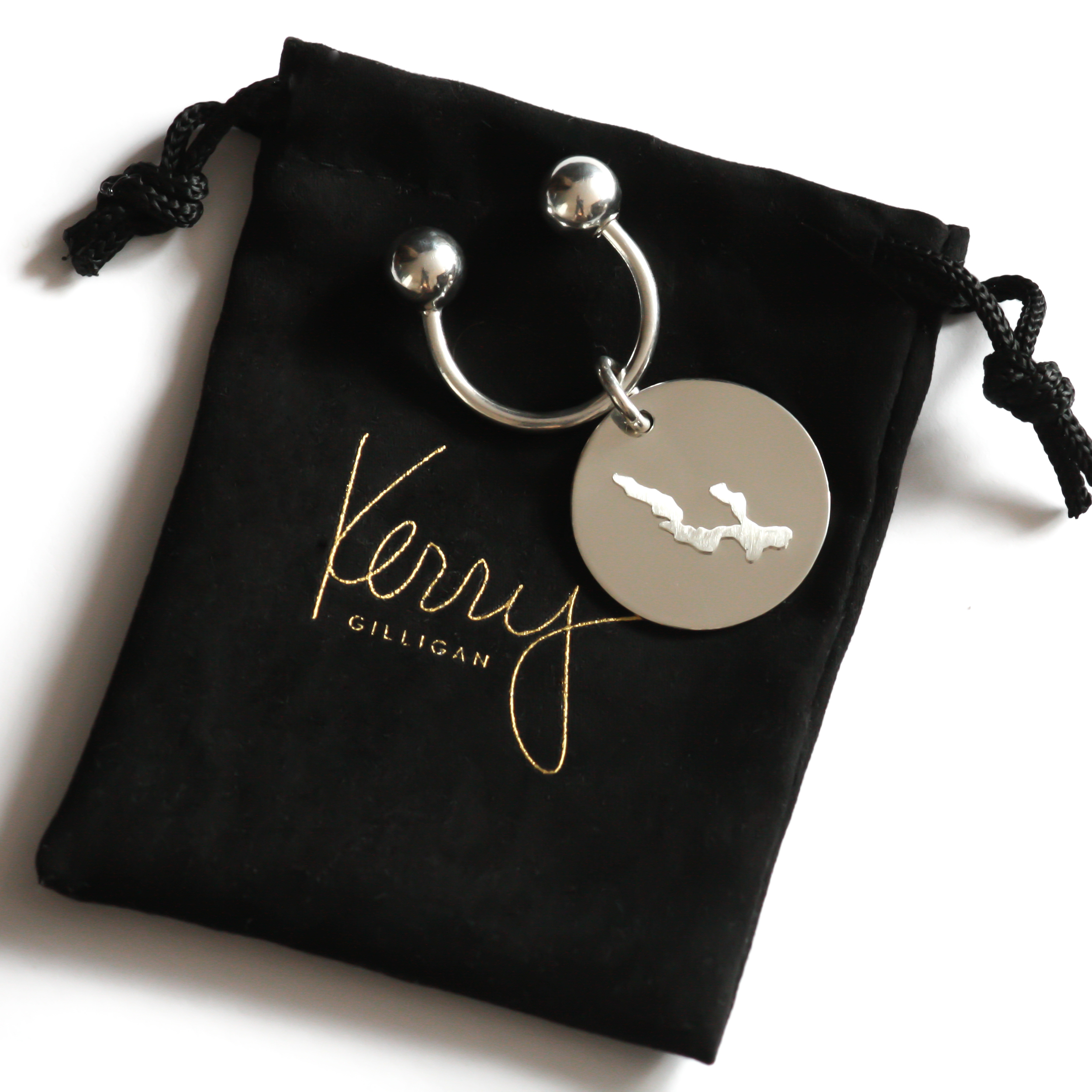 STERLING SILVER KEYCHAIN BY KERRY GILLIGAN