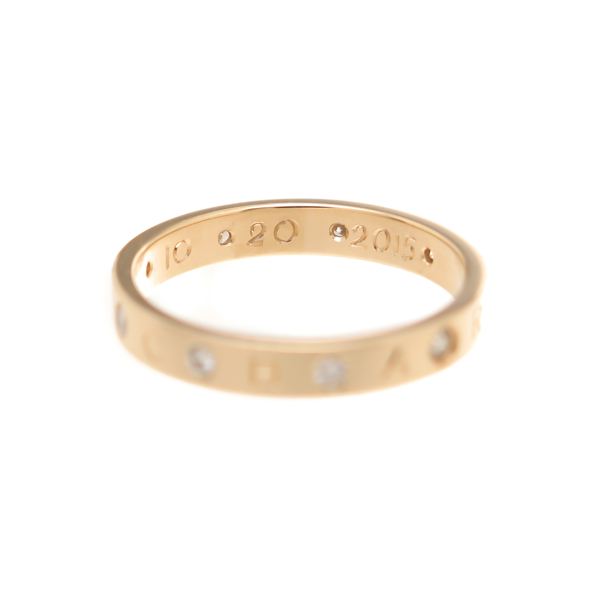 14k yellow gold and diamond baby name ring by Kerry Gilligan