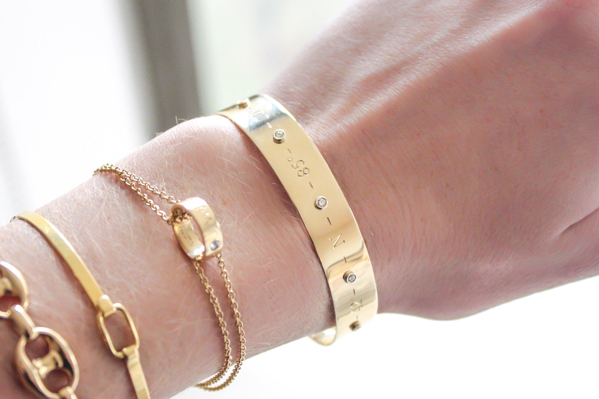 coordinates bangle by kerry gilligan 14k gold with diamonds.jpg