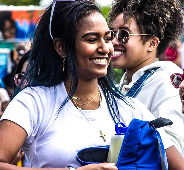 Sasha Obama still loving her Martha's Vineyard Original Necklace! Shop link in bio! #repeatoffender #marthasvineyard #sashaobama