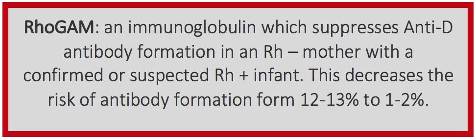 Figure 1 - Description of Rhogam