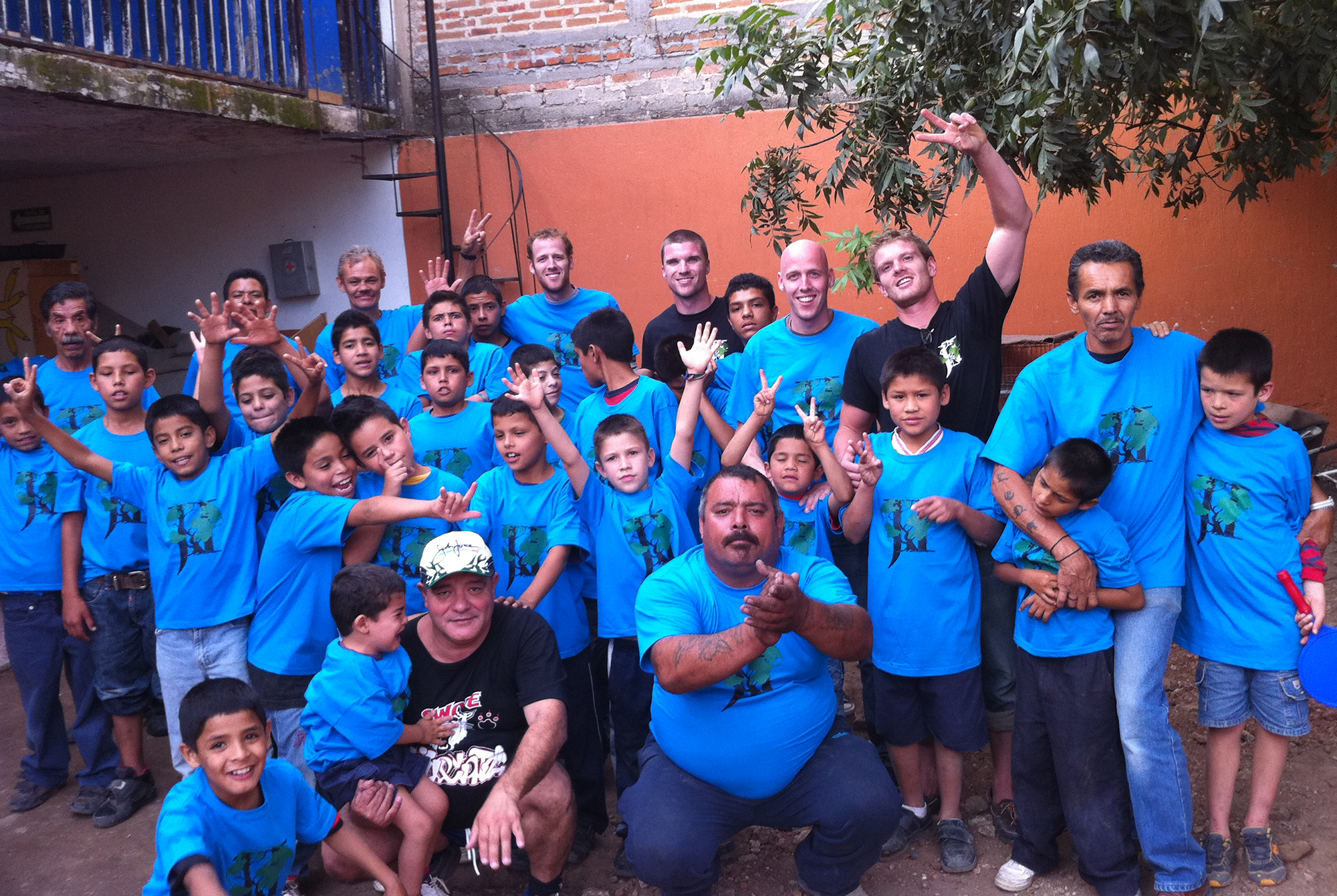 The kids in the orphanage.