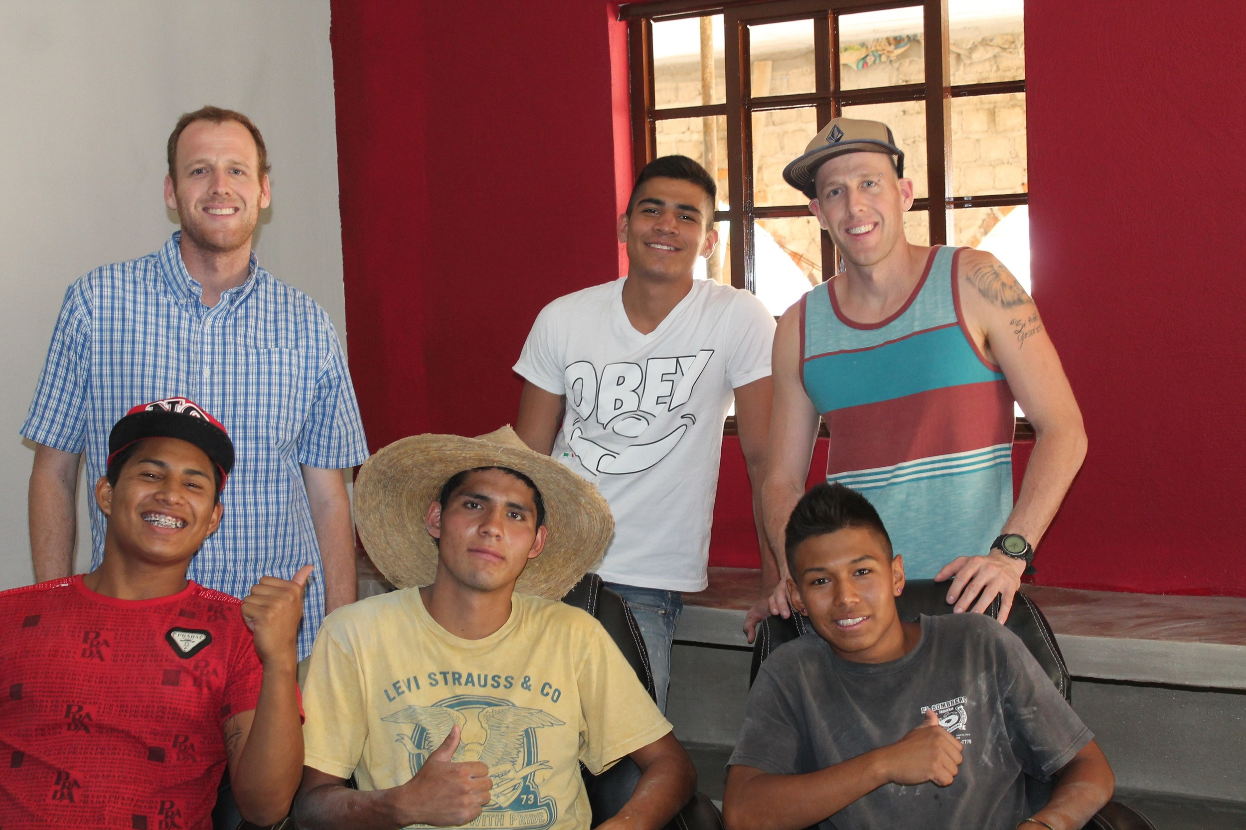 The youth in the office at Horizon Ranch.