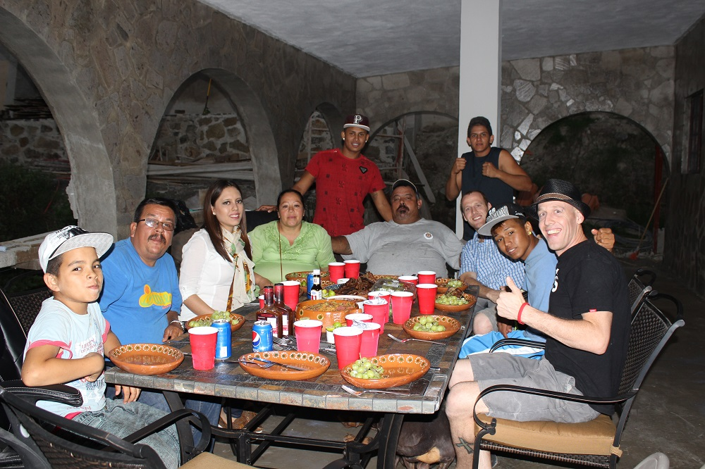 Dinner on the patio with the orphanage directors.