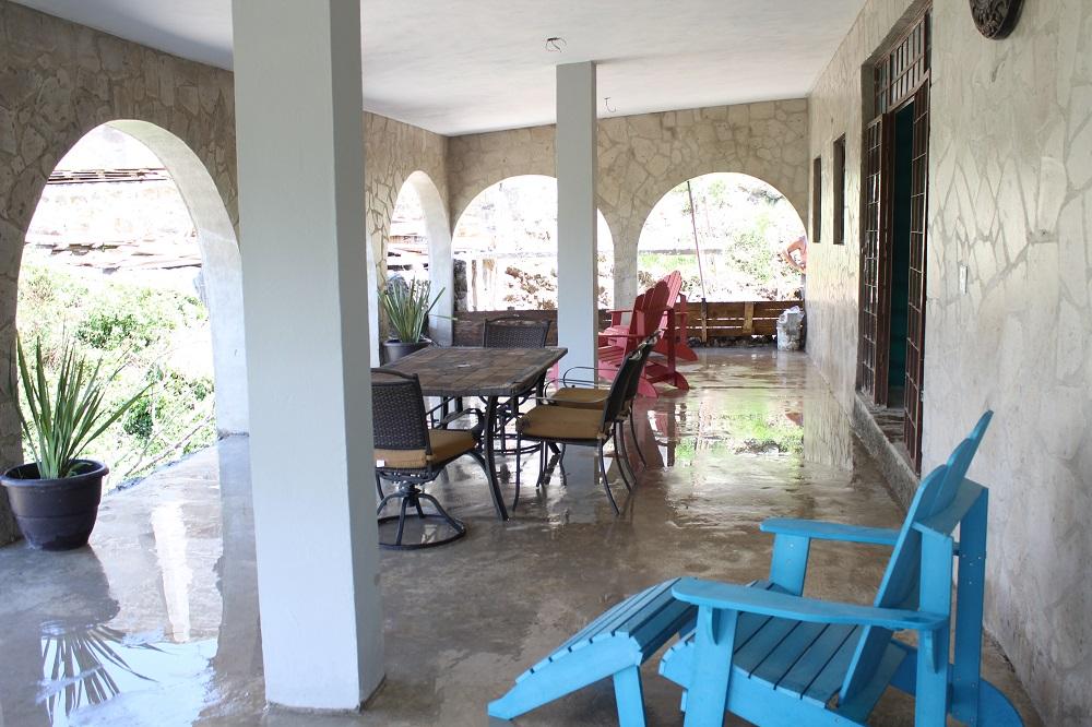 The patio of the multi-purpose building.