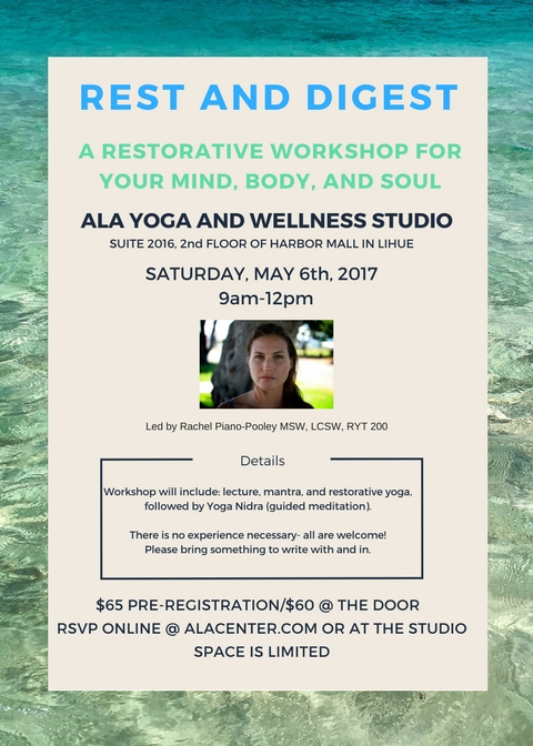 If you like to relax in many different ways, (or could really use a recharge), this workshop is for you!   GO HERE  to register.