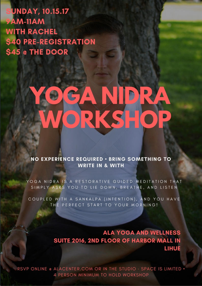 I am excited to continue sharing about the plentiful and extremely accessible benefits of Yoga Nidra!  Relax, lie down and meditate while creating new grooves in your brain via a sankalpa (intention).
