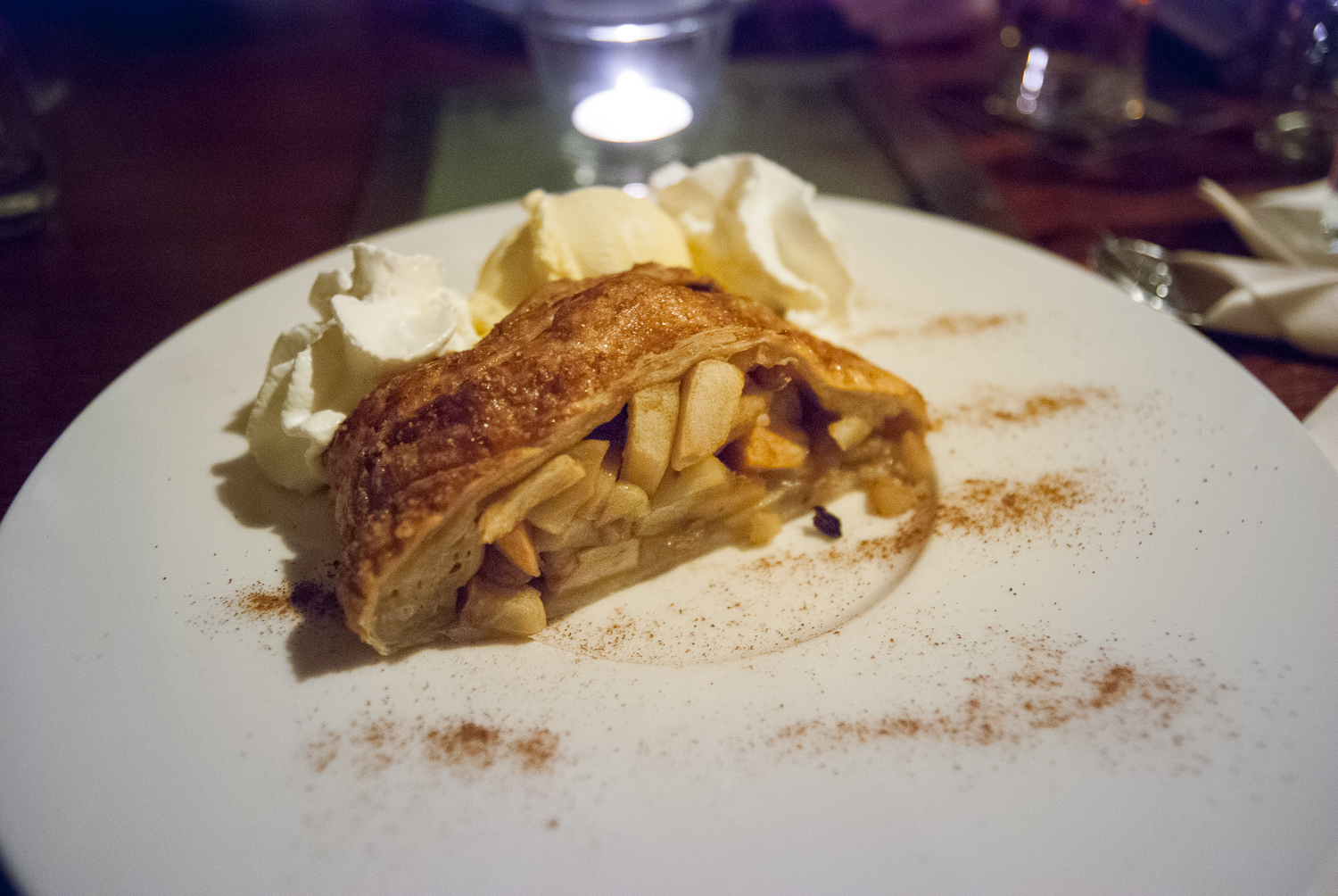Baked apple strudel