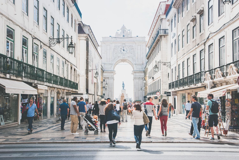 Rua Augusta, Lisbon's main shopping & pedestrian street