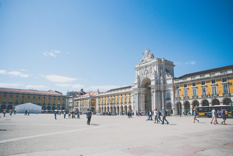 Rua Augusta Arch in Commerce Square / also referred asPalace Square (Terreiro de Paço)