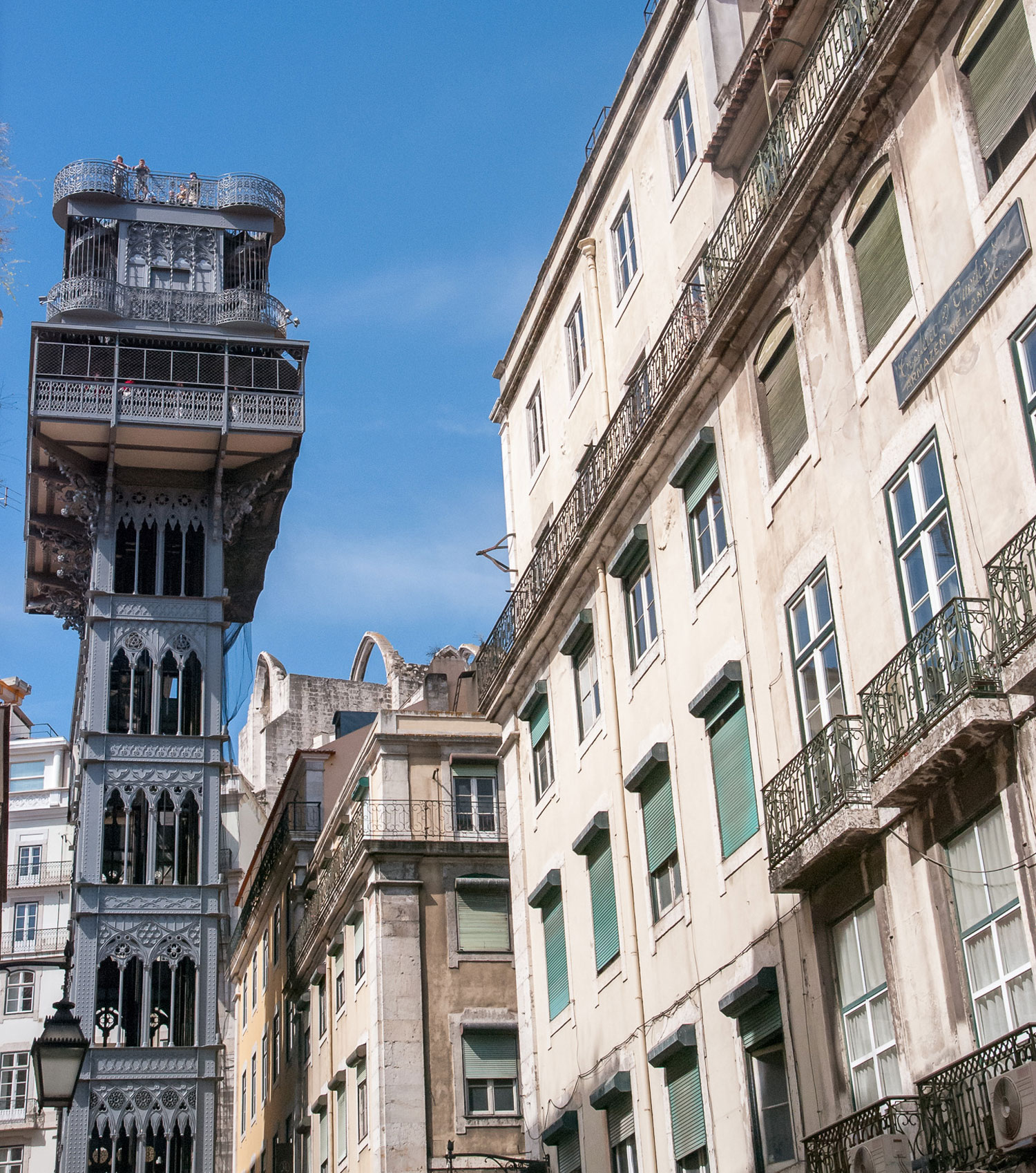 Santa Justa Lift, an antique elevator in downtown Lisbon