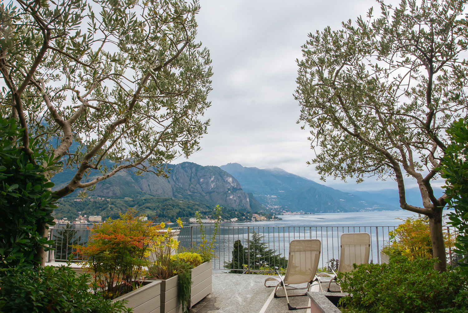 The view from our hotel room in Lake Como
