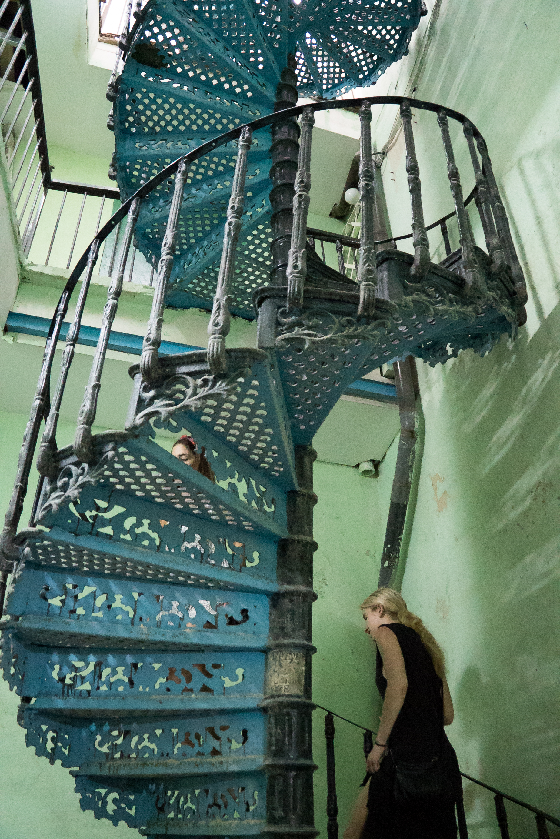 staircase at our casa paticular in Havana