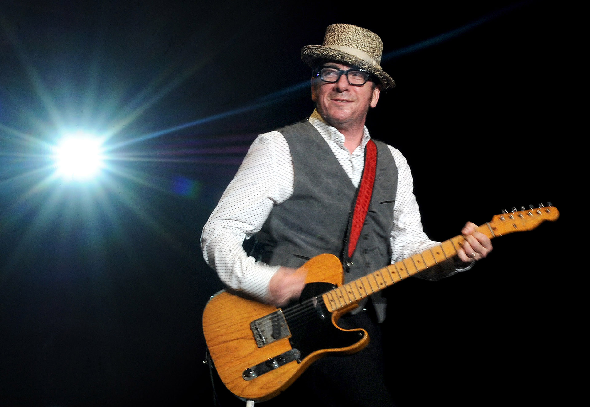 Elvis Costello performs during The Gathering of the Vibes festival on July 23, 2011.