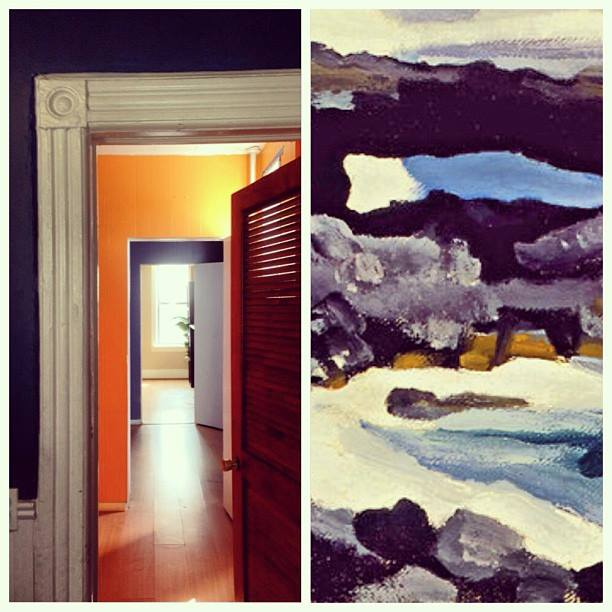 my old apartment, painted in the colors of this Georgia O'Keeffe painting