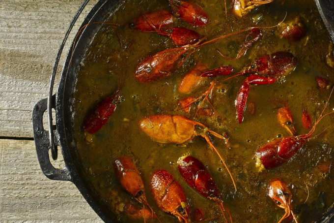 Boudin-Stuffed Crawfish Heads / via  Acadiana Table