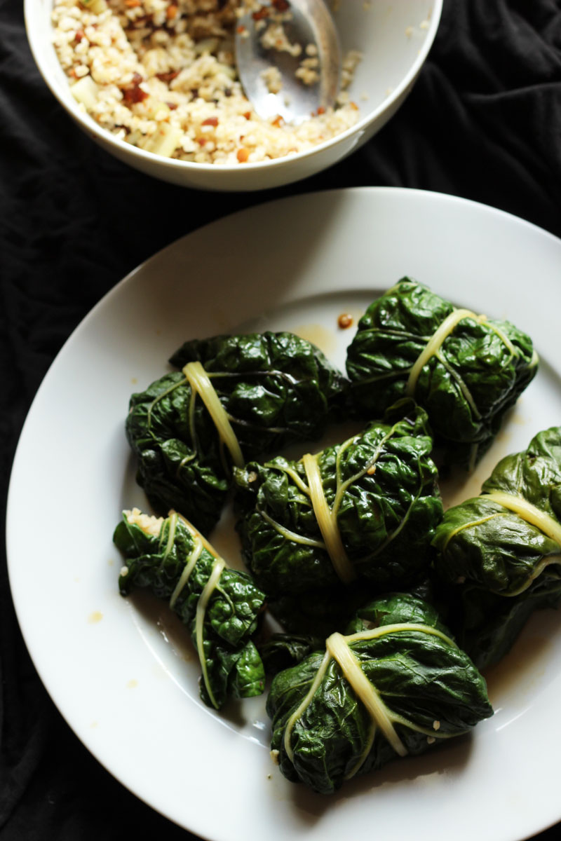 Swiss Chard, Raisin & Pine Nut Dolmas