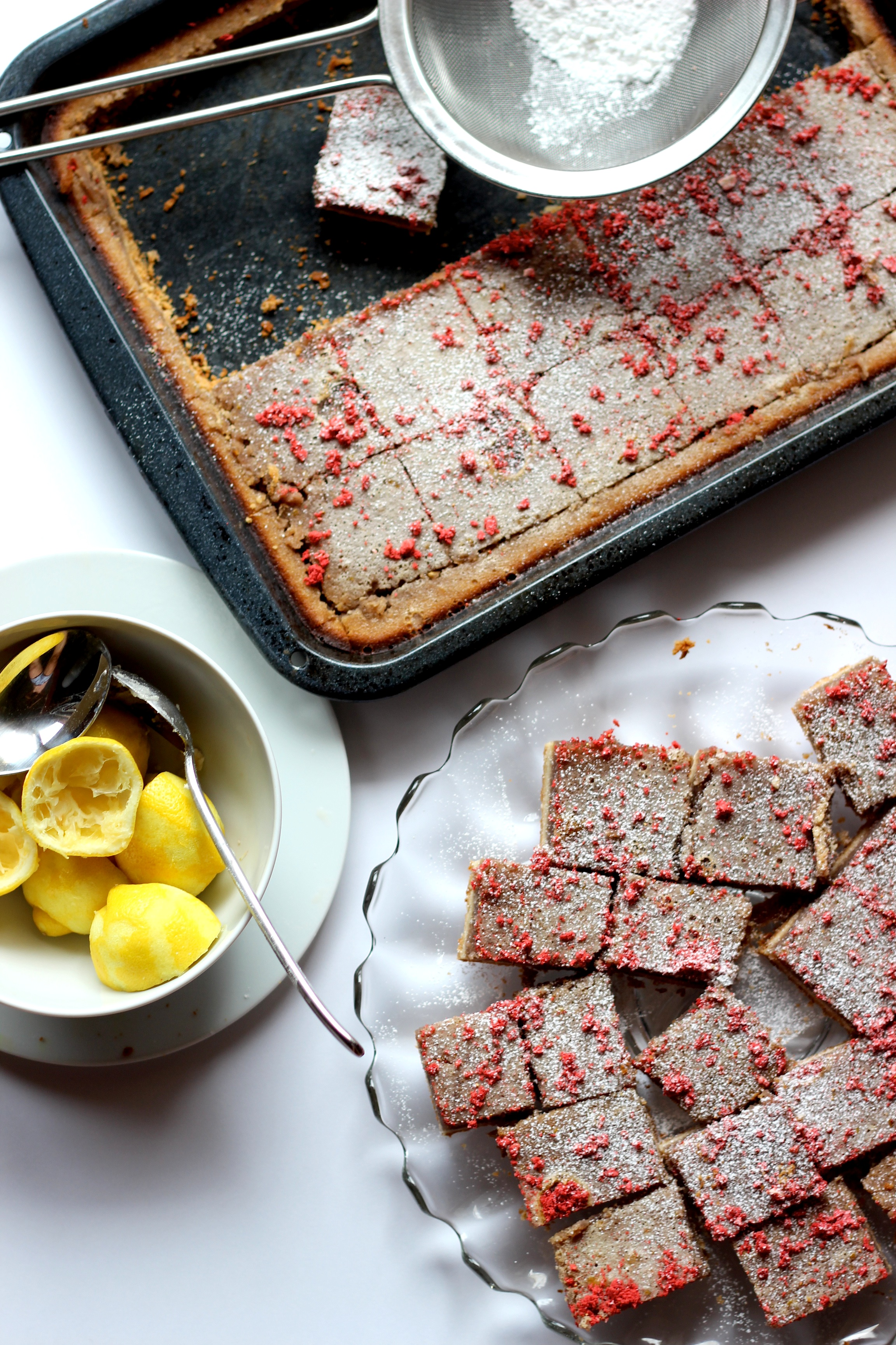 pomegranate lemon bar
