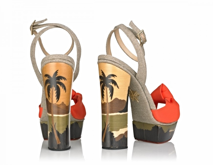 Charlotte Olympia tropical stacked heel