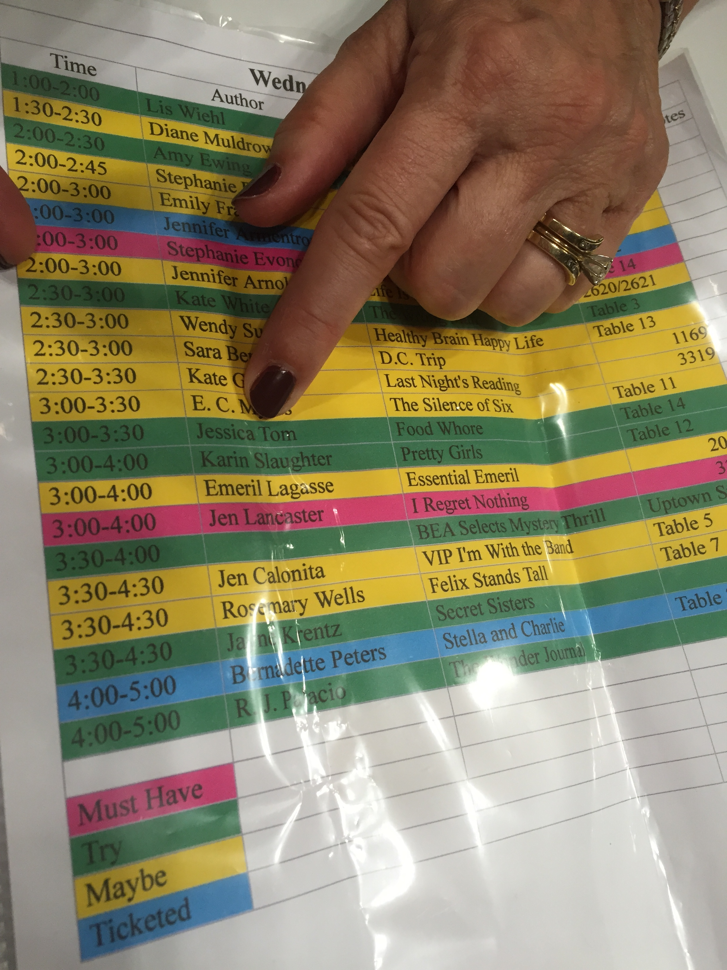 a very organized woman prioritizes my signing