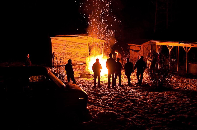 Couch-burning,  Huntingdon, PA