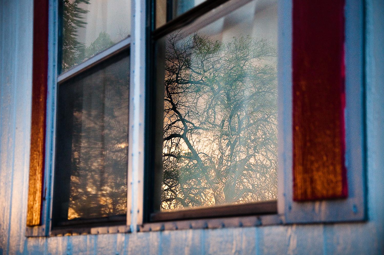 Trailer Window Sunset  , San Fidel, NM