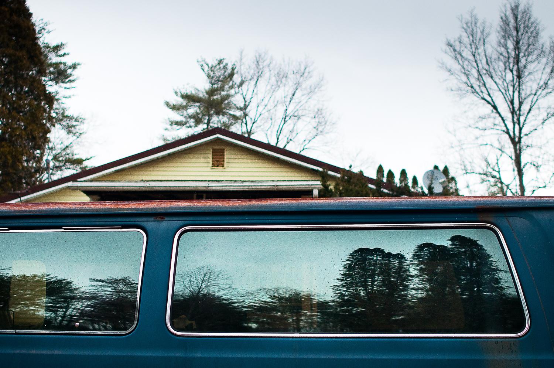 Blue Van Reflection,  Huntingdon, PA