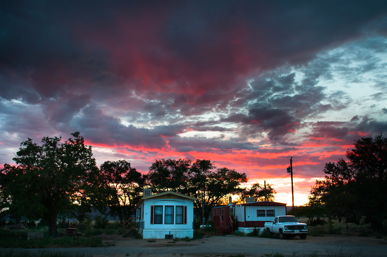 Trailer Scene  , San Fidel, NM