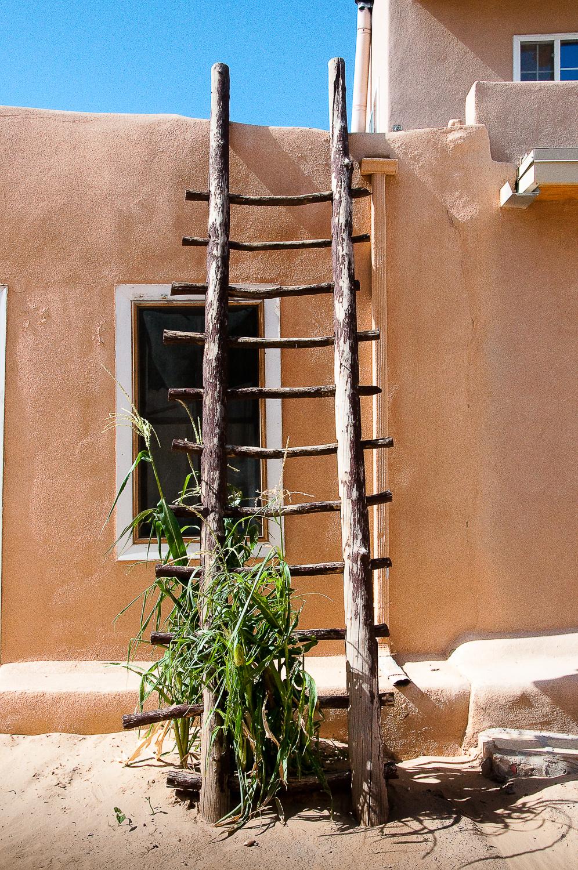 Acoma Ladder with Corn,  Acoma Pueblo, NM