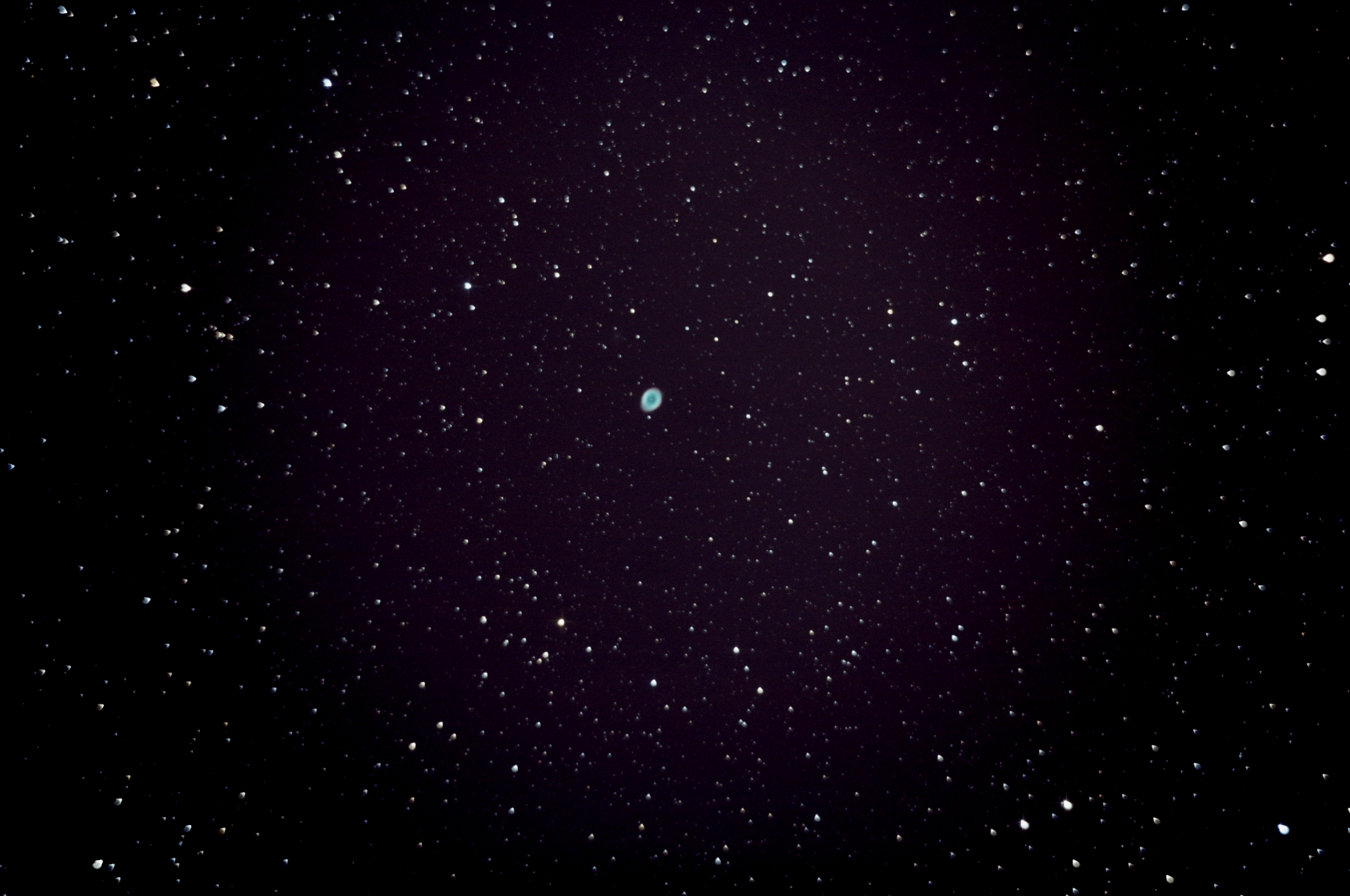 M57, captured on September 2nd, 2014 from Lakewood, CO. Stack of 30 lights, 10 darks, and 10 bias frames. Stacked image, with no post-processing.