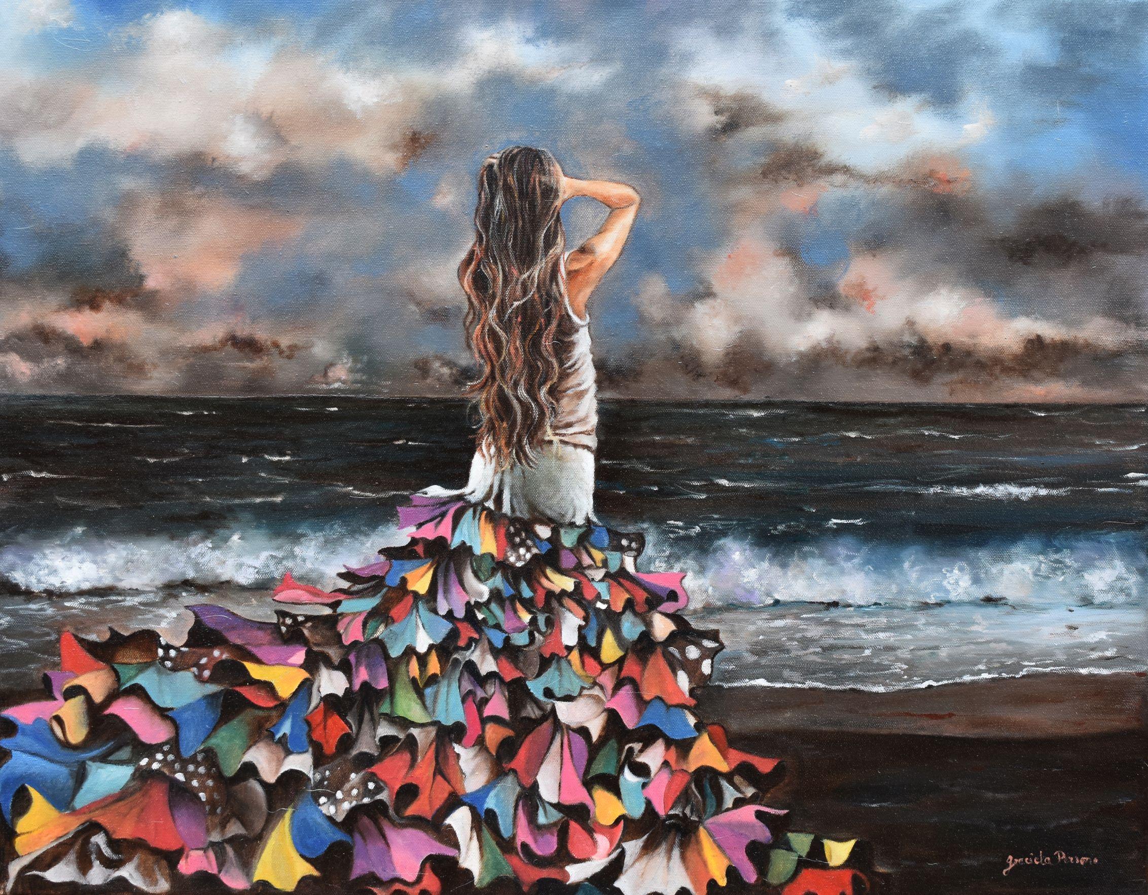 Breathe in the Sea   Original oil on canvas 24'x48'