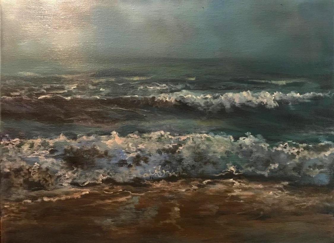 Mar II   Original oil on canvas 16'x 16'